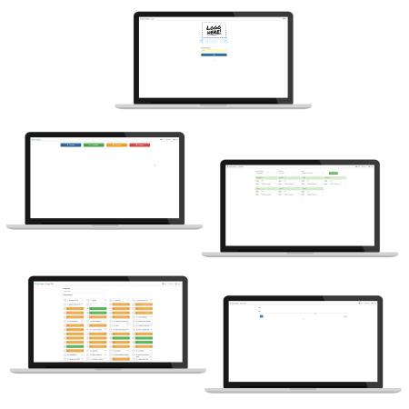 Екрани на софтуера QEST LC на лаптоп